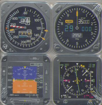 EFIS Instrument Coaster Set | 28025