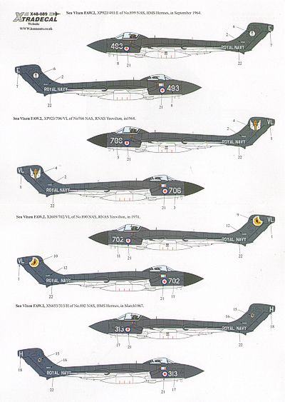 De Havilland Sea Vixen FAW2 (766NAS, 890NAS, 892NAS, 899NAS Royal Navy)  X48089