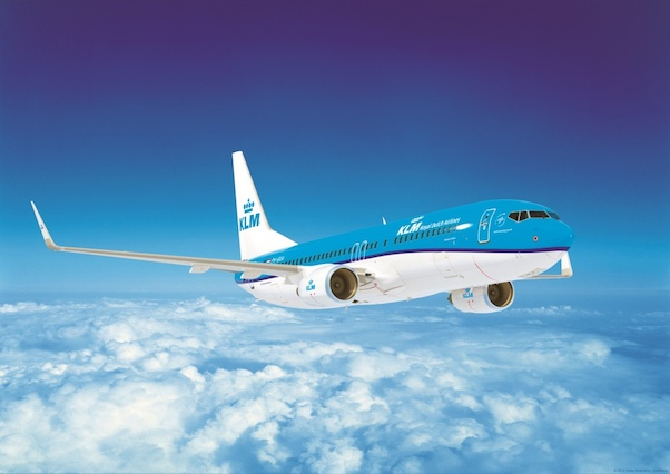 KLM Boeing 737-800 in flight Poster  POS-KL737-800