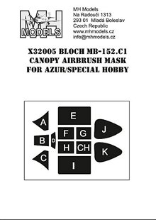 Bloch MB152C-1 Canopy Mask (Azur/Special Hobby)  X32005