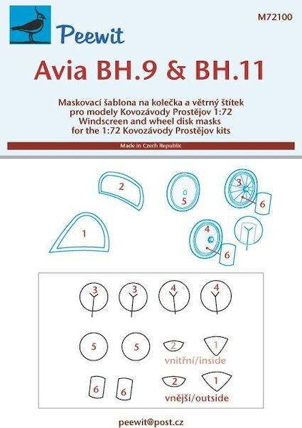 Avia BH9 and BH11 Windscreen and wheel masking (KP)  M72100