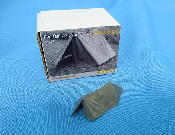 Pup Tent 2x  US Army WW2 (1x included)  MDR7231