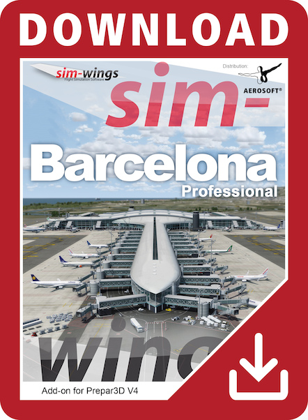 Mega Airport Barcelona professional (Download version) (Aerosoft 14210-D)