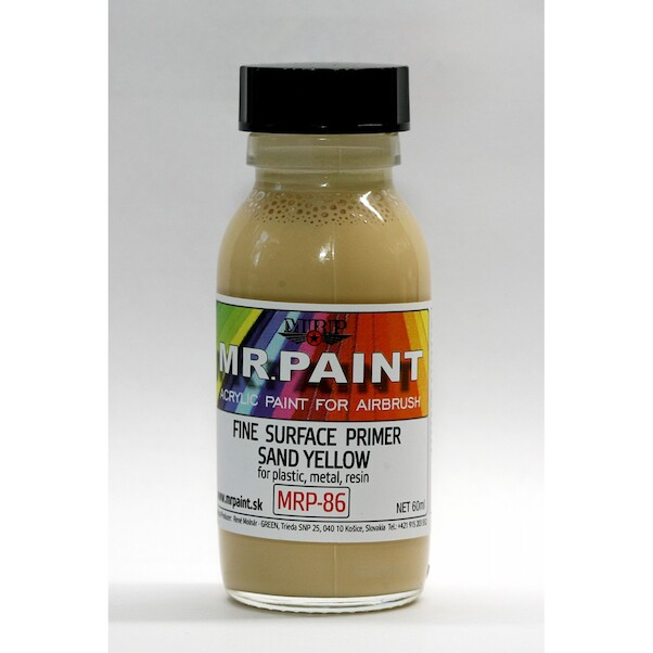 MR. Paint Fine surface Primer for Plastic, Metal, Wood and Resin - Sand Yellow  mrp-086