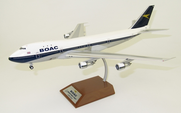 B747-100 (BOAC) G-AWNL Polished  With Stand  B-741-BOAC-NLP