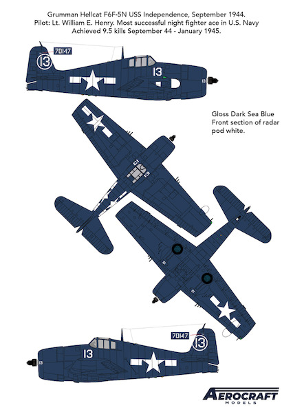F6F-5N Hellcat  No 13 early conversion set  (Airfix)  ACM-24007
