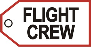 Flight Crew baggage tag (white background)  TAG200