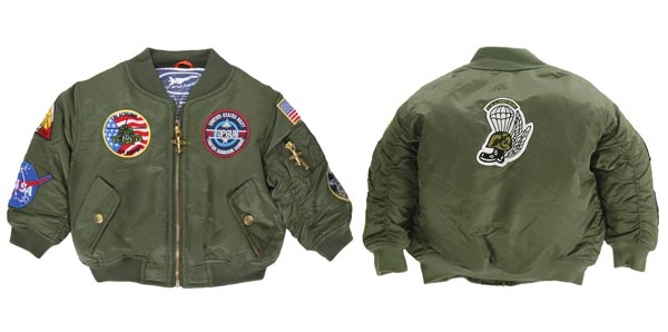 MA-1 Flight Jacket For Infants and Children (7-Patch)