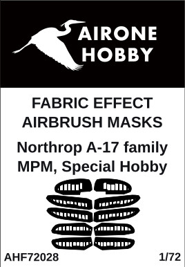 Fabric effect Airbrush masks Northrop A17, DB8A family (MPM, Special Hobby)  AHF72028