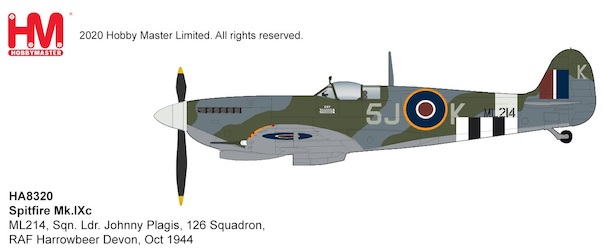 Spitfire Mk.IXc ML214, Sqn. Ldr. Johnny Plagis, 126 Squadron,  RAF Harrowbeer Devon, Oct 1944  HA8320