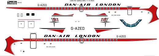 BAC 1-11 srs 400 (Dan-Air Delivery scheme)  144-50