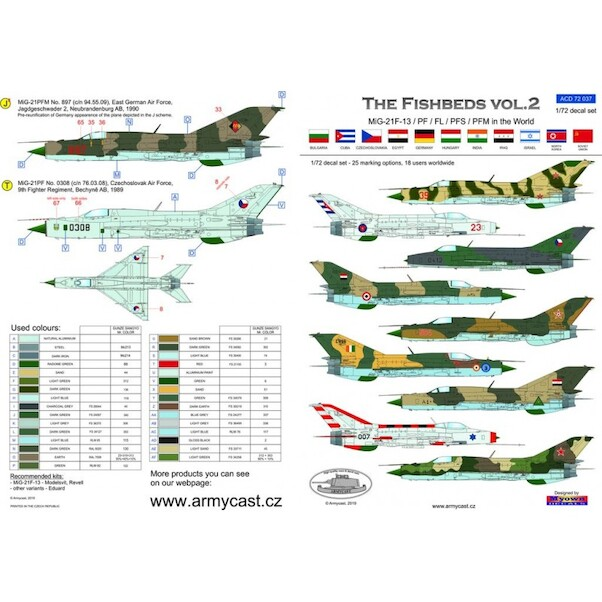 The Fishbeds Vol 2, MiG21F-13, PF and PFM in the World  ACD72037