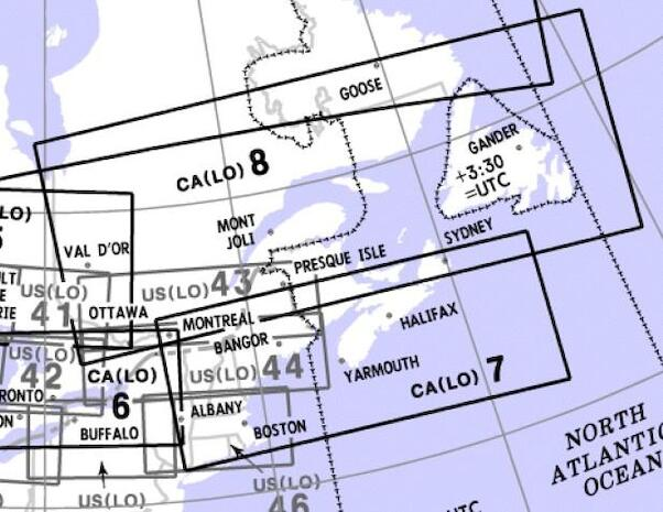 Low Altitude Enroute Chart Canada CA(LO)7/8