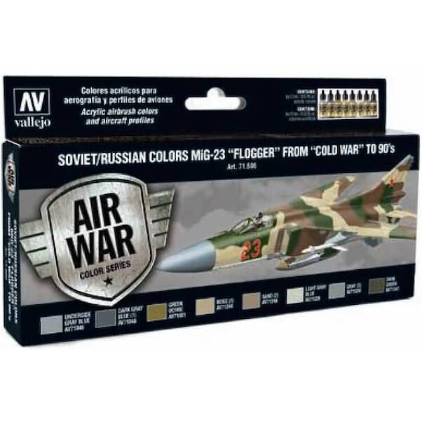 Vallejo Model Color Air Acrylic paint set Soviet/Russian MiG23 'Flogger