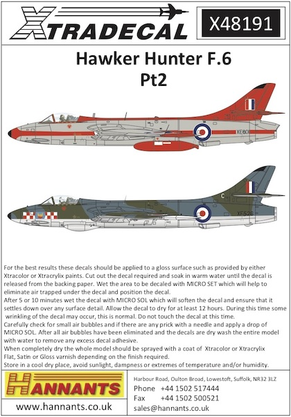 Hawker Hunter F6 Part 2  X48191