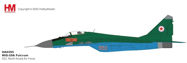 MIG29A Fulcrum 553, North Korea Air Force, early 2012  HA6505