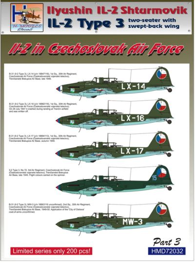 Ilyushin IL2 At war Part 3 (2 seater with swept back wing)  HMD72032