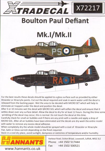 Boulton-Paul Defiant Mk.Is  X72217