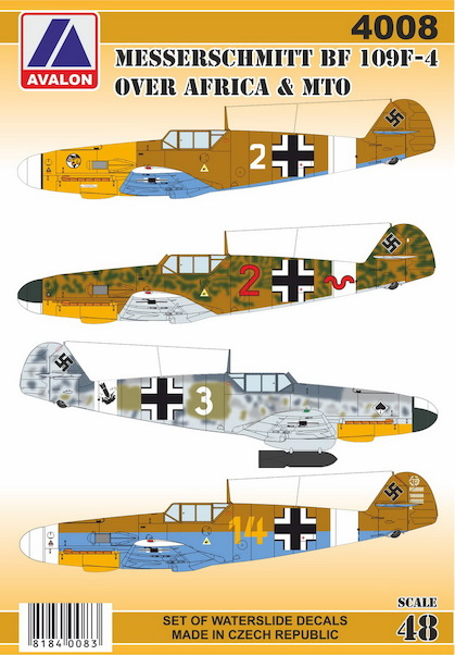 Messerschmitt Bf109F-2 & F-4 Over Africa and MTO  72009