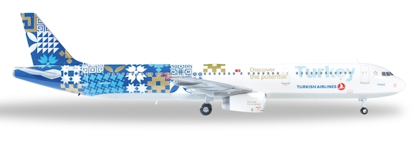 Herpa Wings 1:200 airbus a 321 Turkish Airlines discover the potential 557900