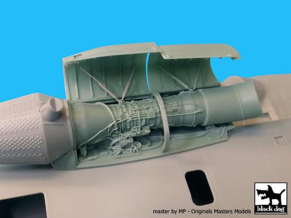 MH53E Sea Dragon Outer engine (Academy) (Black Dog Accessories A48068)