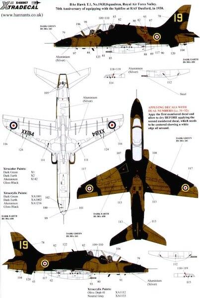 Hawk T Mk1 2008 Demonstrators (Xtra-decal X48067)