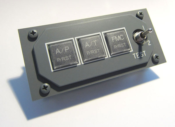 B737 AFDS module including faceplate.  AFD1080