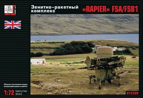 RAPIER FSA/FSB1 Anti-Aircraft Missile as used during the Falkland War (RESTOCK)  72320