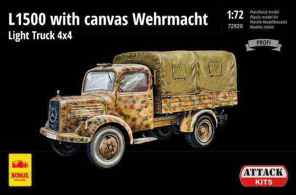 Mercedes L1500 Wehrmacht Light truck 4x4 with Canvas  72920