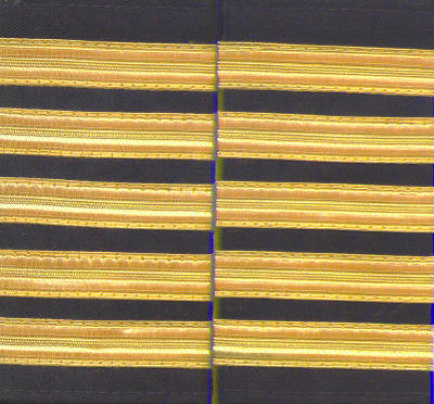 Set of two 5 gold bar Epaulettes with black background. ( 13 mm bar)  5BARGOLD