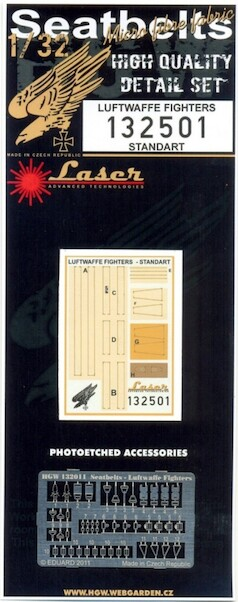 Luftwaffe Fighter (Standard) Seatbelt set Laser cut  HGW132501