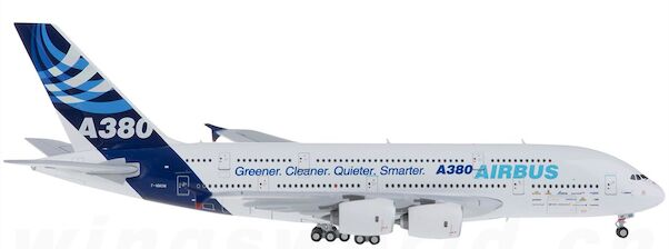 A380 (Airbus House colours 'Greener, Cleaner, Quieter,  Smarter') F-WWOW  21005