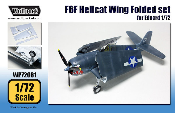 Grumman F6F Hellcat wing folding set (Eduard)  WP72061