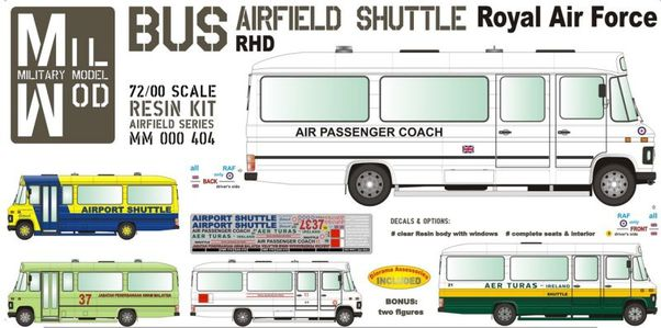 Mercedes Benz LP608 Bus Airfield shuttle (Royal Air Force, Aer Turas,)  MM000-404