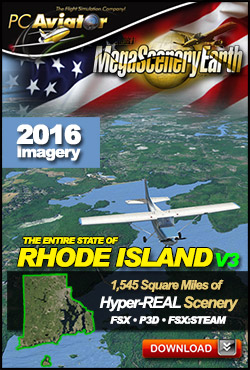 Mega Scenery Earth Version 3, Rhode Island V3 (Download version)  DL-MSEV3-RI