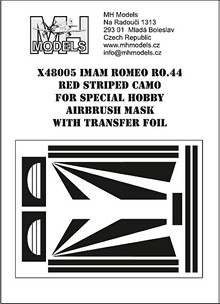IMAM Romeo Ro44 Red Striped camouflage airbrush mask (Special Hobby)  X48005