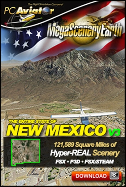 Mega Scenery Earth Version 3, New Mexico (Download version)  DL-MSEV3-NM