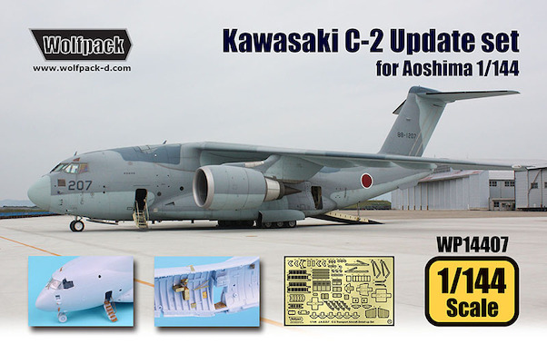 Kawasaki C-2 Transport Aircraft Update set (Aoshima)  WP14407