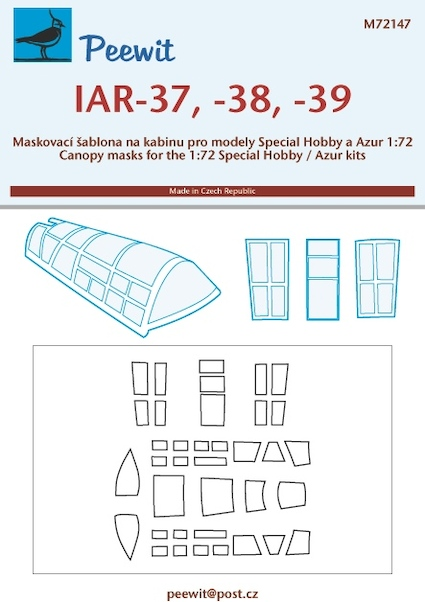IAR37/38/39 Canopy and window masking (Special Hobby/Azur)  M72147