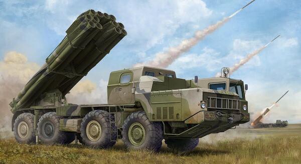 Soviet (9A52-2 Smerch-M Multiple Rocket Launcher with RSZO 9K58 Smerch MRLS  (Trumpeter TR01020)