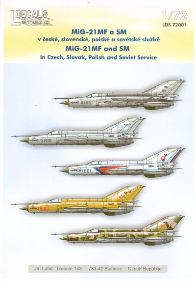 Mikoyan MiG21MF and MiG21SM in Czech,Slovak, Polish and Soviet Service  LDS72001