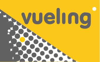Bagagetag with Vueling on one side and writable backside, including metal wire  BAGTAG VUELING