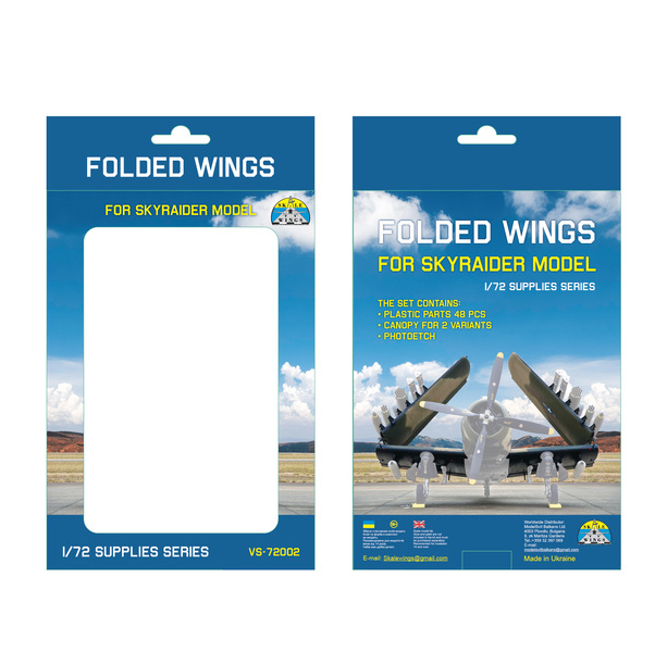 Douglas AD-5W Skyraider Folding Wing set (Skale Wings)  vs-72002
