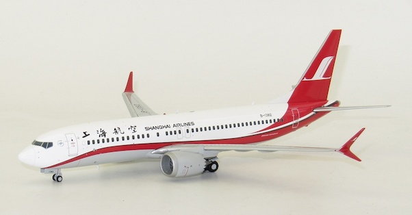 B737-8MAX (Shanghai Airlines) B-1382 With Stand  LH2180