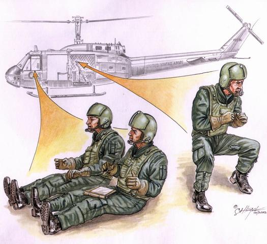 Us Helicopter Crew Vietnam War 3 Figures
