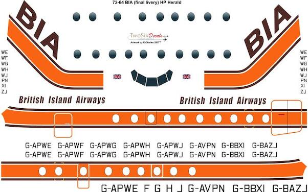Handley Page Herald (BIA Late Scheme)  72-64