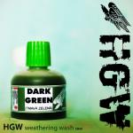 Dark Green Weathering wash  HGW-GREEN