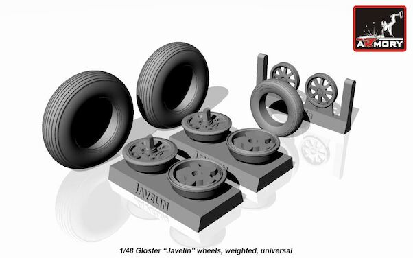 Gloster Javelin Wheel set - weighted  AR AW48401