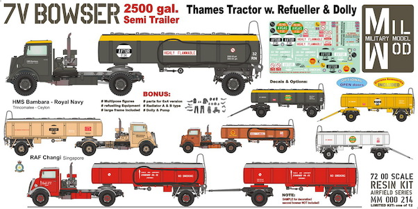 Thames 7V Tractor with Tank semi Trailer with Figures and equipment  MM000-209