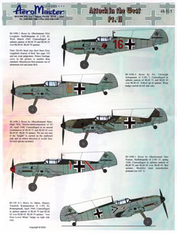 Attack in the west Pt II (BF109E)  AMD48-515